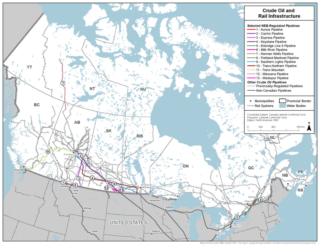 Crude Oil and Rail Infrastructure (via Natural Resources Canada)