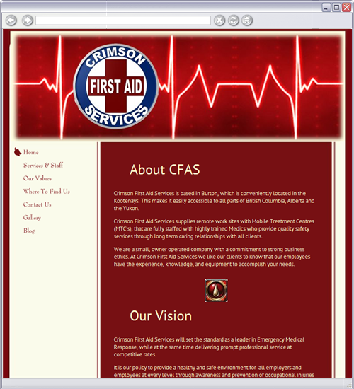 Crimson First Aid Services logo