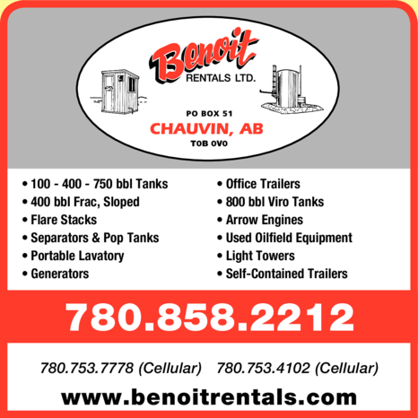 Yellow Pages Ad of Benoit Rentals Ltd