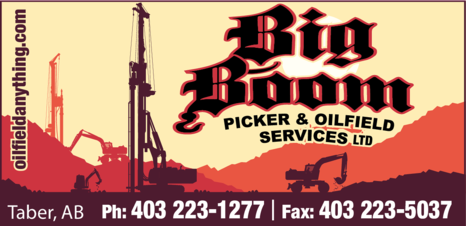 Yellow Pages Ad of Big Boom Picker & Oilfield Services Ltd