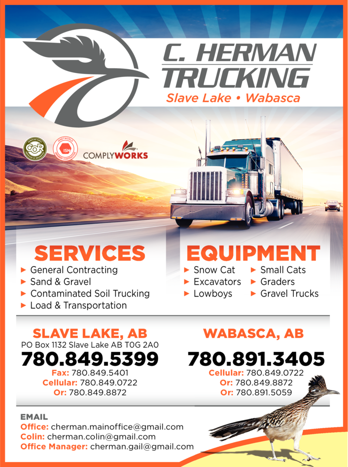 Yellow Pages Ad of C Herman Trucking Ltd