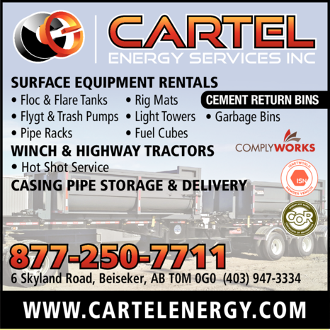 Yellow Pages Ad of Cartel Energy Services