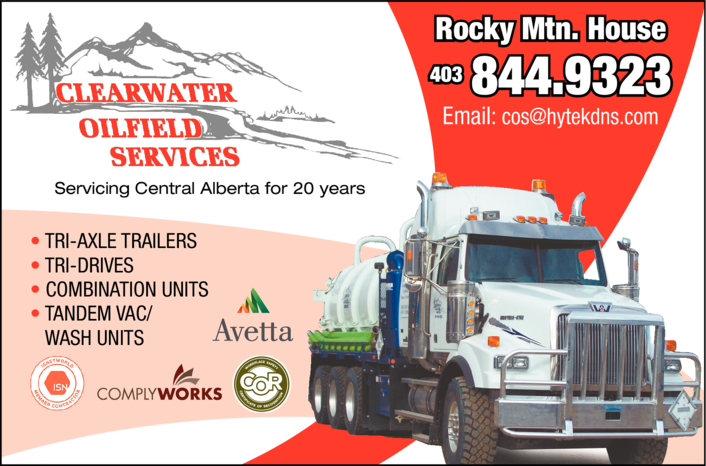 Yellow Pages Ad of Clearwater Oilfield Services