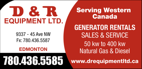 Yellow Pages Ad of D & R Equipment Ltd