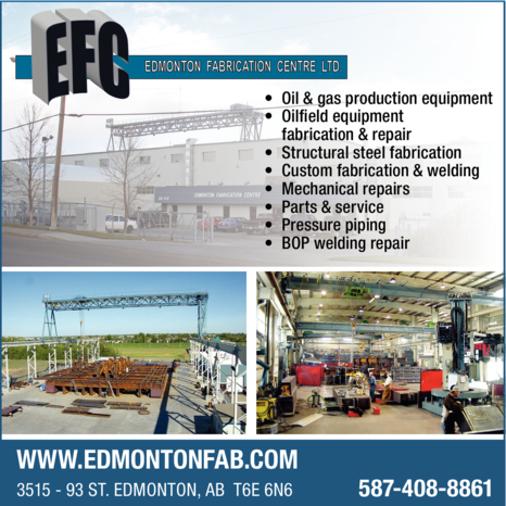 Yellow Pages Ad of Edmonton Fabrication Centre