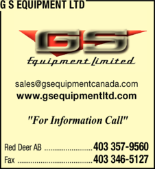 Yellow Pages Ad of G S Equipment Ltd