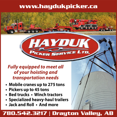 Yellow Pages Ad of Hayduk Picker Service
