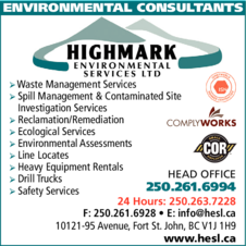 Yellow Pages Ad of Highmark Environmental Services Ltd