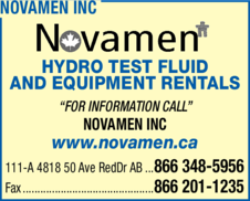 Yellow Pages Ad of Novamen Inc