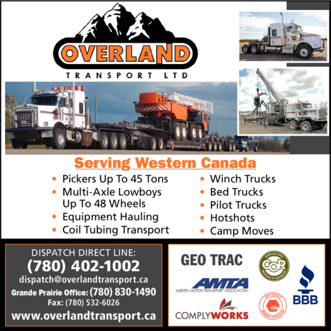 Yellow Pages Ad of Overland Transport Ltd