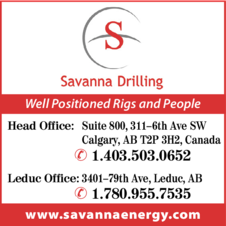 Yellow Pages Ad of Savanna Drilling  Corp