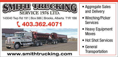Yellow Pages Ad of Smith Trucking Service (1976) Ltd