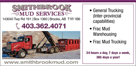 Yellow Pages Ad of Smithbrook Mud Services Ltd