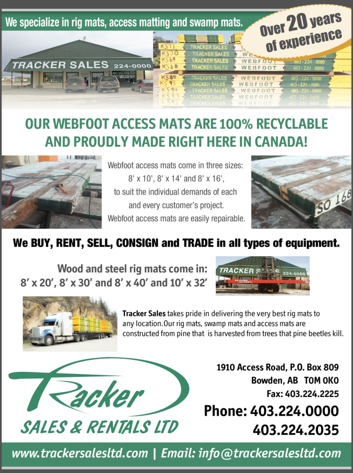 Yellow Pages Ad of Tracker Sales Ltd