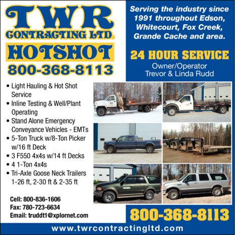 Yellow Pages Ad of Twr Contracting Ltd