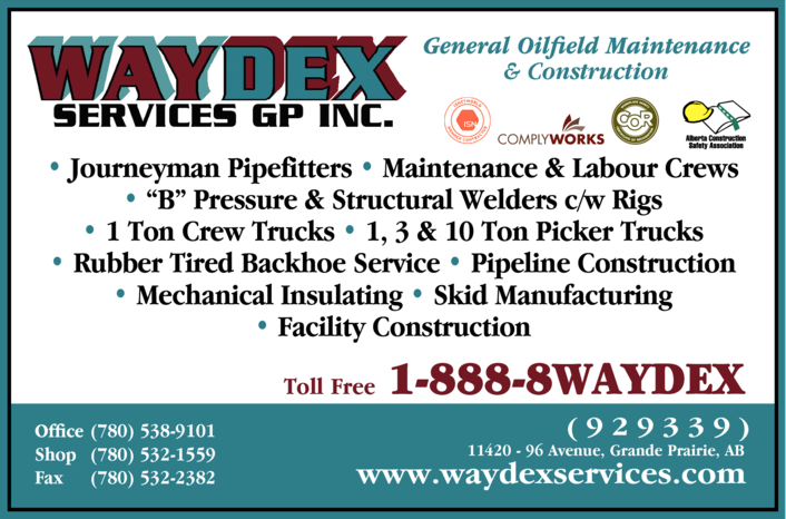 Yellow Pages Ad of Waydex Services Gp Inc