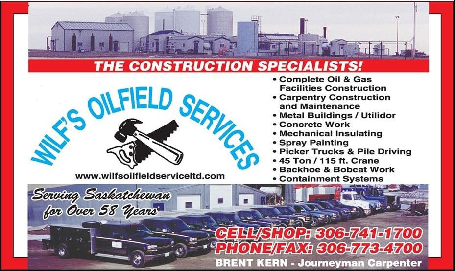 Yellow Pages Ad of Wilf's Oilfield Services Ltd