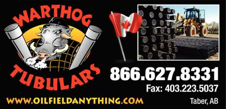 Print Ad of Warthog Tubulars