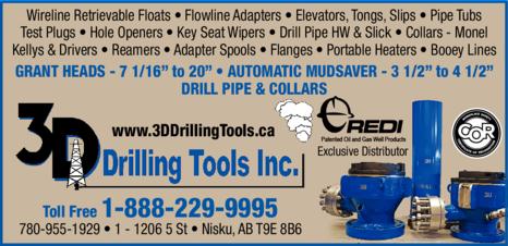 Print Ad of 3d Drilling Tools Inc