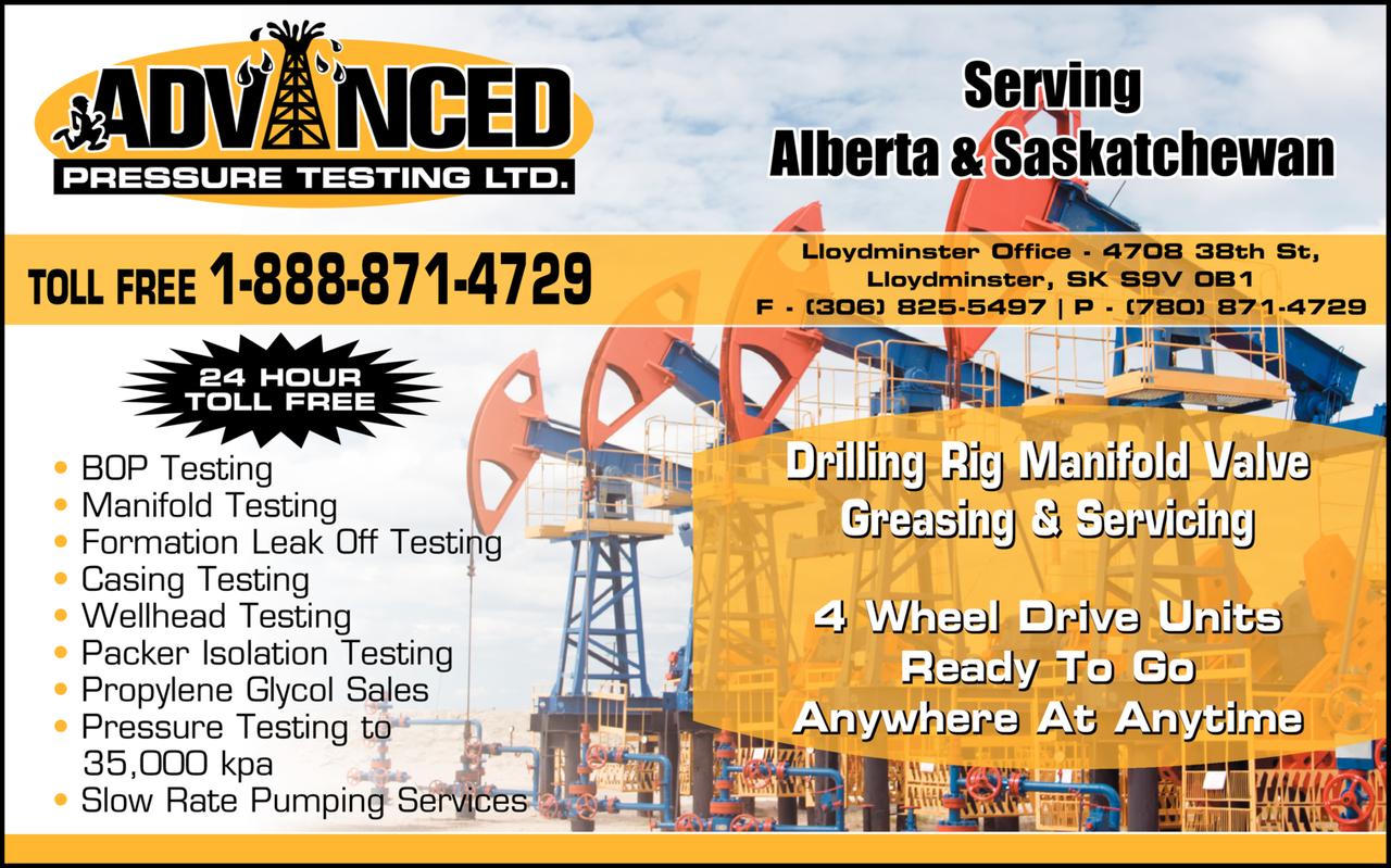 Print Ad of Advanced Pressure Testing Ltd