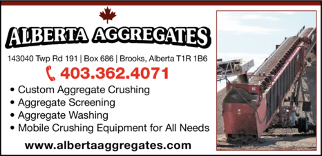 Yellow Pages Ad of Alberta Aggregates