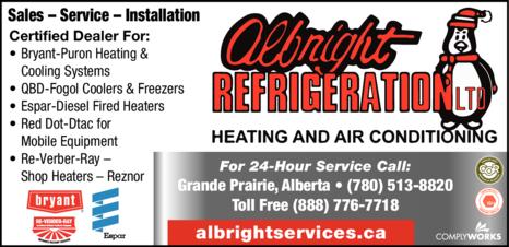 Print Ad of Albright Refrigeration Ltd