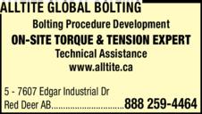 Print Ad of Alltite Global Bolting