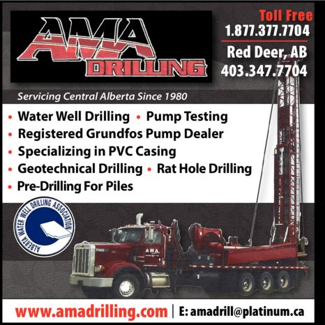 Yellow Pages Ad of Ama Drilling