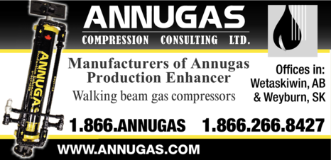 Yellow Pages Ad of Annugas Compression Consulting Ltd