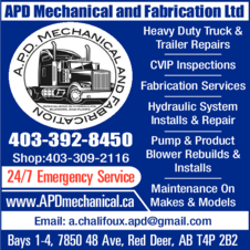 Print Ad of Apd Mechanical And Fabrication Ltd