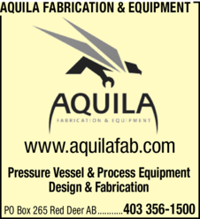 Yellow Pages Ad of Aquila Fabrication & Equipment