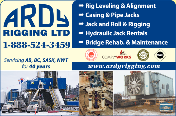 Print Ad of Ardy Rigging Ltd