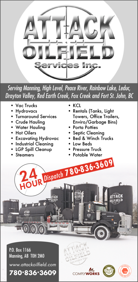 Print Ad of Attack Oilfield Services Inc