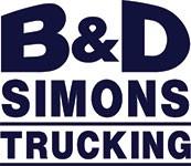 B & D Simons Trucking logo