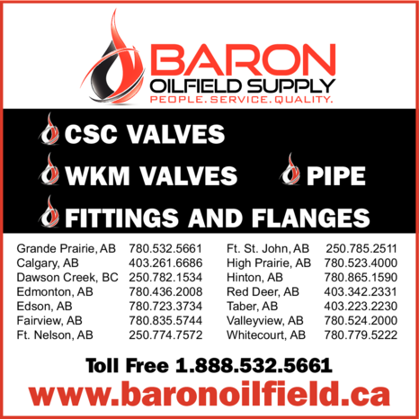 Yellow Pages Ad of Baron Oilfield Supply