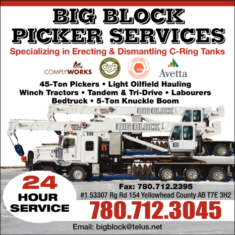 Yellow Pages Ad of Big Block Picker Services Ltd