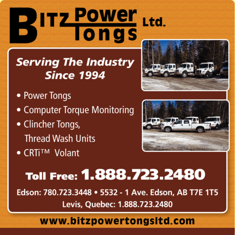 Yellow Pages Ad of Bitz Power Tongs Ltd