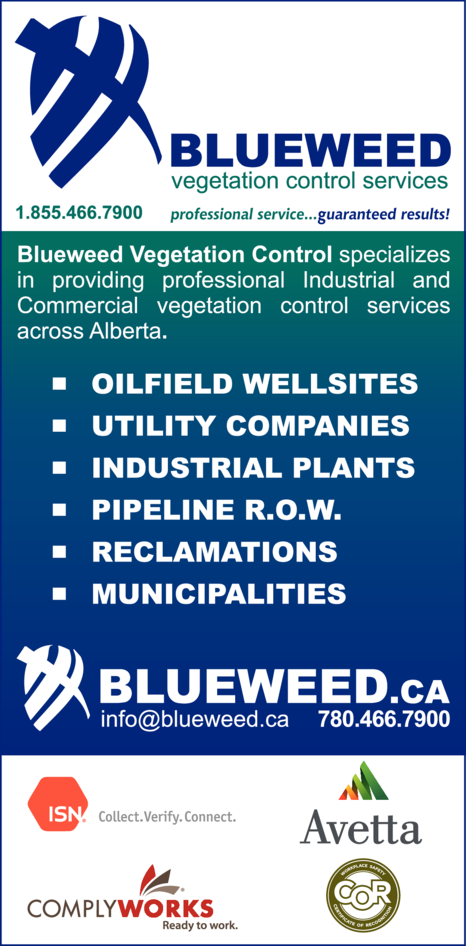 Yellow Pages Ad of Blueweed Vegetation Control Services