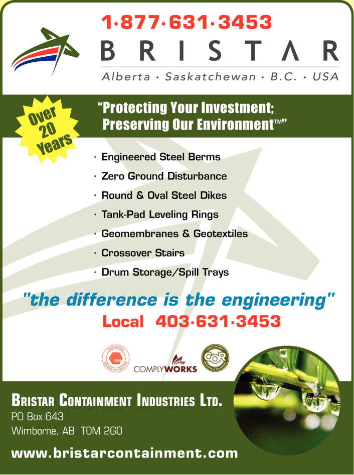 Yellow Pages Ad of Bristar Containment Industries Ltd