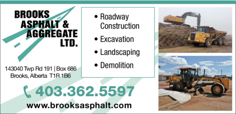 Yellow Pages Ad of Brooks Asphalt & Aggregate Ltd