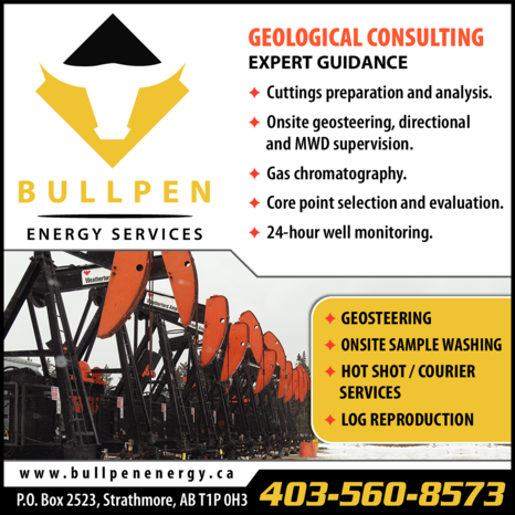 Yellow Pages Ad of Bullpen Energy Services