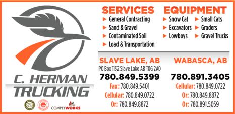 Print Ad of C Herman Trucking Ltd