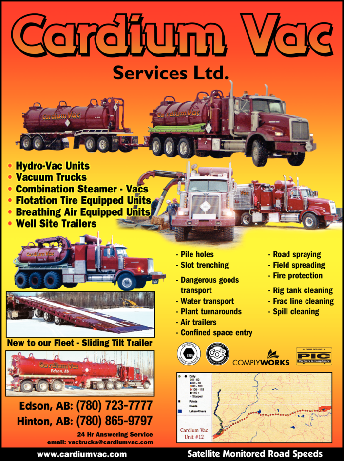 Yellow Pages Ad of Cardium Vac Services Ltd