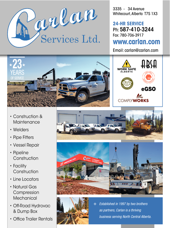Yellow Pages Ad of Carlan Services Ltd