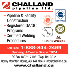 Yellow Pages Ad of Challand Pipeline Ltd