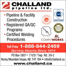 Print Ad of Challand Pipeline Ltd