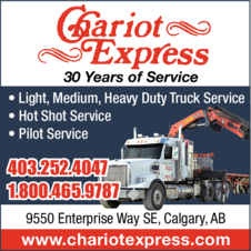 Yellow Pages Ad of Chariot Express Ltd
