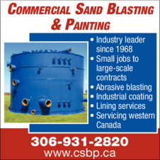 Yellow Pages Ad of Commercial Sand Blasting & Painting