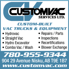 Yellow Pages Ad of Custom Vacuum Services Ltd