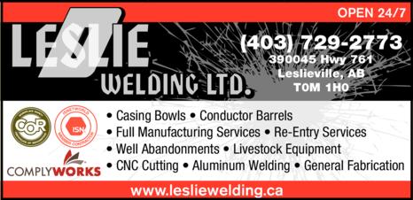Print Ad of D Leslie Welding Ltd